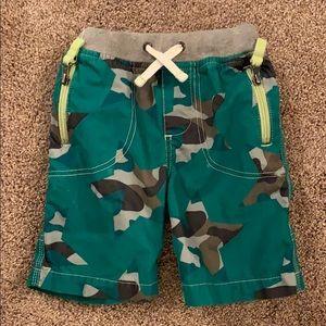 Mini Boden Green Adventure Shorts